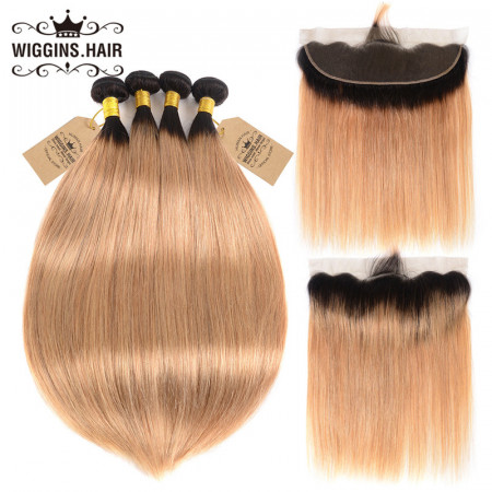 Straight Hair 4pcs With Lace Frontal