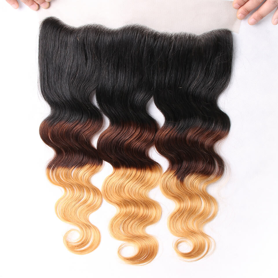 Ombre Hair Color 1b 4 27 Body Wave Weave 3 Bundles With