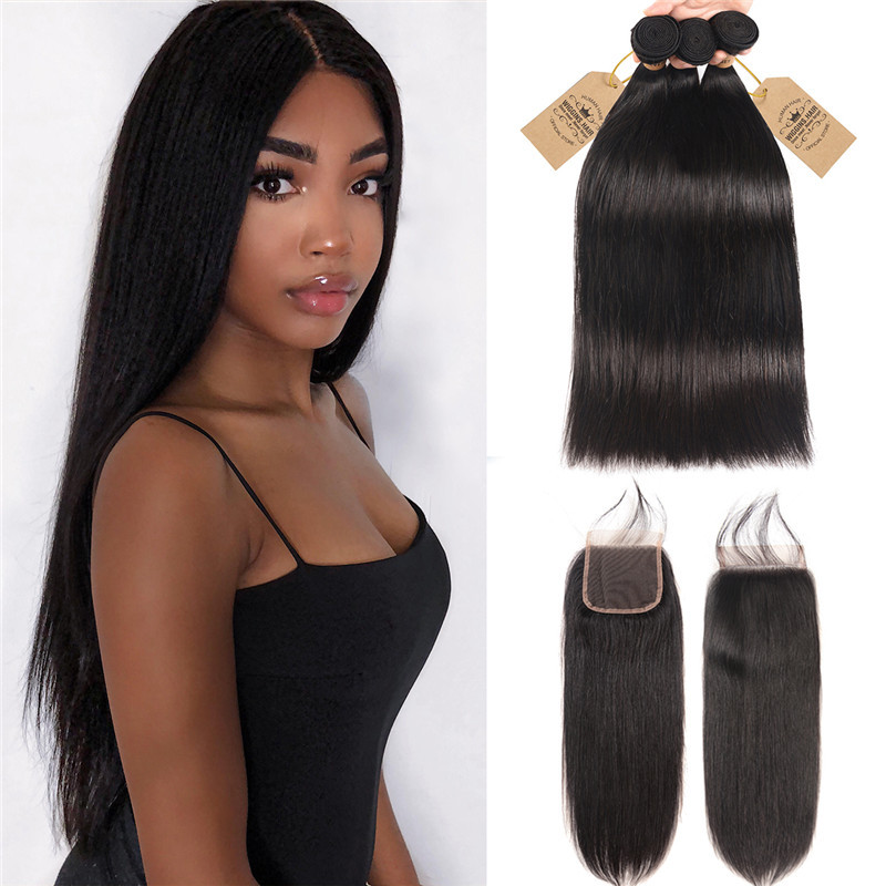Wigginshair 3 Bundles Brazilian Virgin Hair Straight With