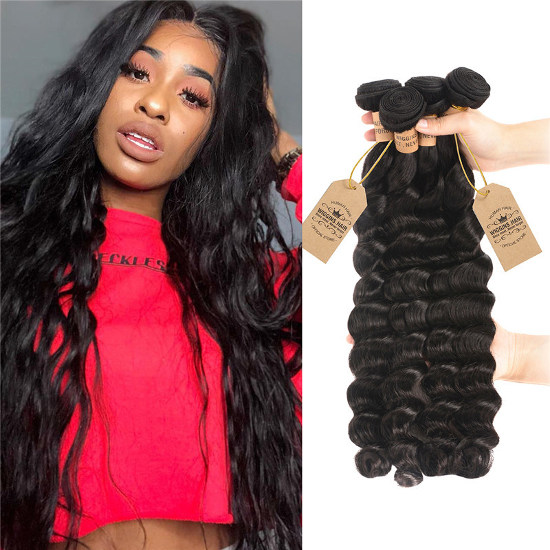 Wigginshair Brazilian Virgin Hair Loose Deep 4 Bundles Wigginshair