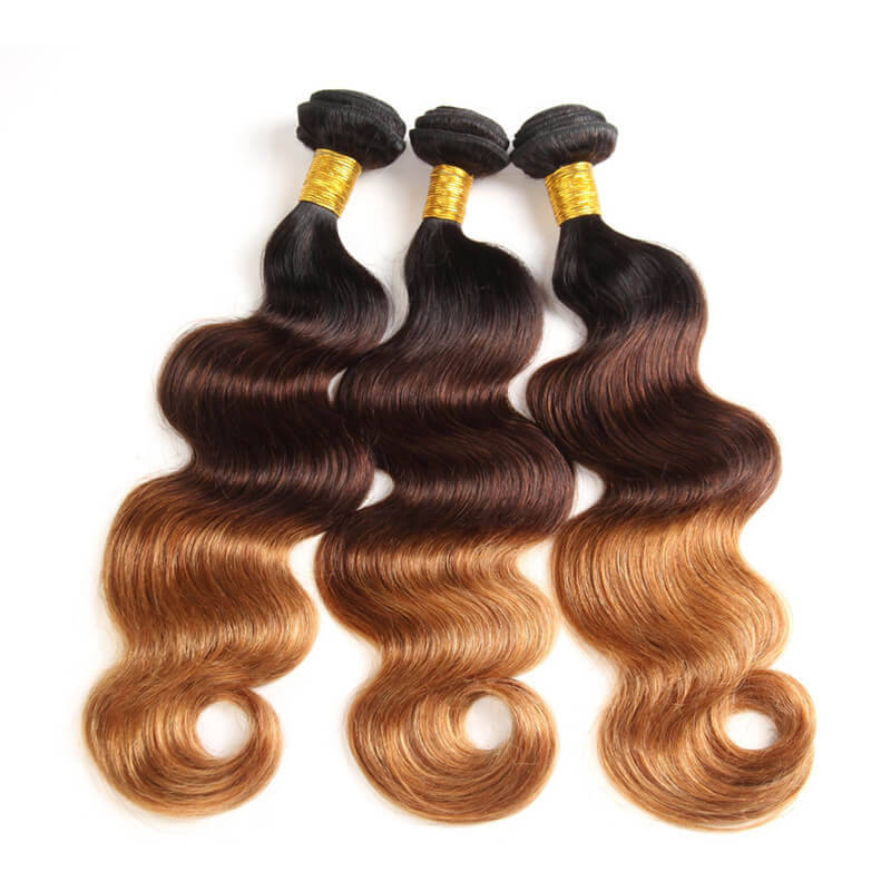1b430 Ombre Color Hair Weave Body Wave High Quality Virgin Hair