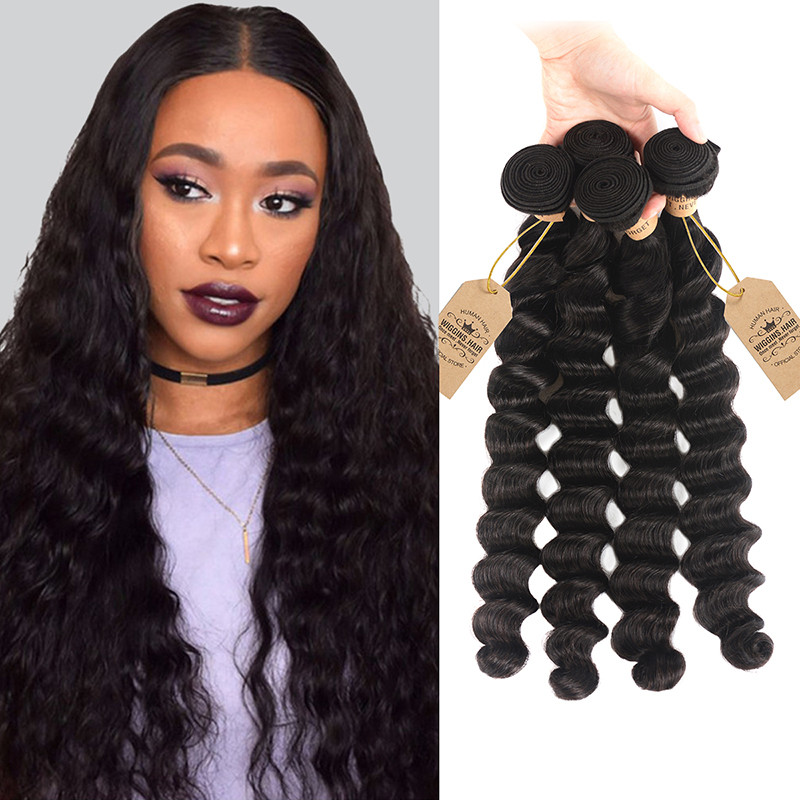 High Quality Malaysian Loose Deep Wave 4 Bundles Best Hair
