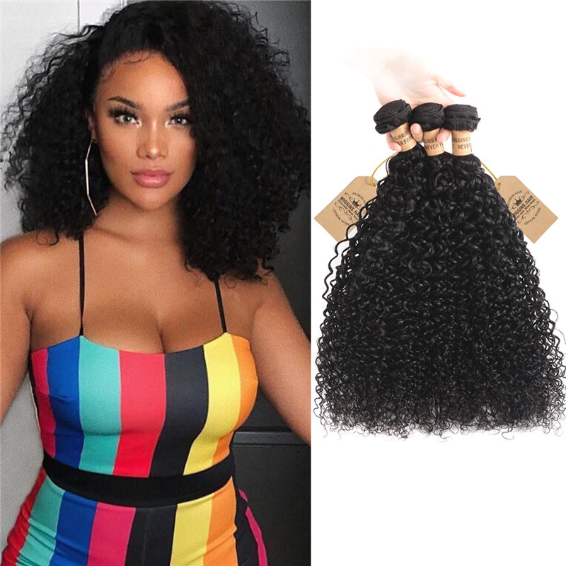 Wiggins Hair Unprocessed 3 Bundles Virgin Peruvian Curly Weave Human