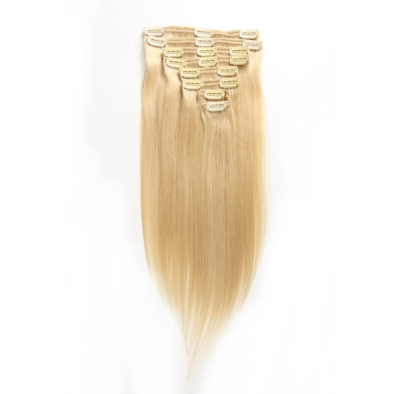 Clip In Human Hair Extensions Light Color Virgin Cheap Clip In
