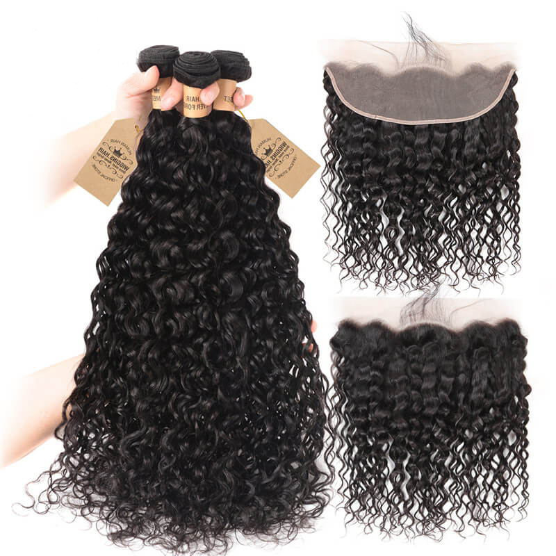 Wiggins Hair 4 Bundles Peruvian Natural Wave Hair Extensions With