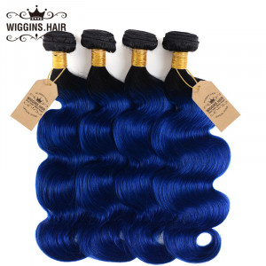 1B/Blue Color Ombre Hair