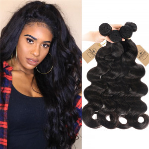 8A Peruvian Body Wave Weave Products 4 Bundles Human Hair f47fd7b3dadf