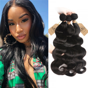 Peruvian Human Hair Body Wave Weave 3 Bundles Virgin Hair 9f4deb2c81d9