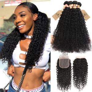 4pcs Curly Wave Human Hair