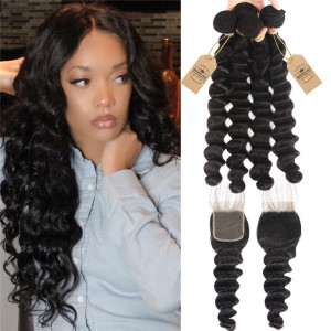 Loose Deep 4pc Weave With Closure