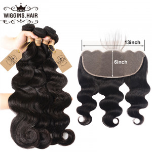 Body Wave Hair 4 Bundles With 13*6 Lace Frontal