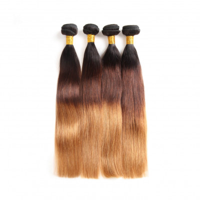 Brazilian Hair Bundle Deals 4pcs 1B/4/30 Straight Ombre Hair