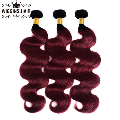 Ombre Hair 3 Bundles 1B/Burg 1B/99J Color Body Wave Virgin Weave Hair