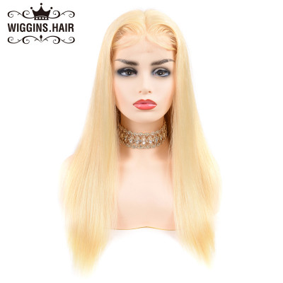 180% Density Lace Frontal Wigs Blonde Color Hair Wig #613 Straight Wigs