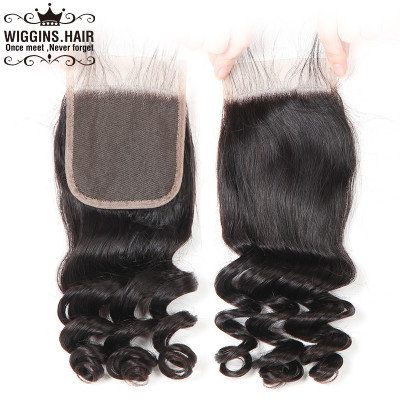 Human Hair Loose Wave Lace Closure Free Part Middle Part Three Part