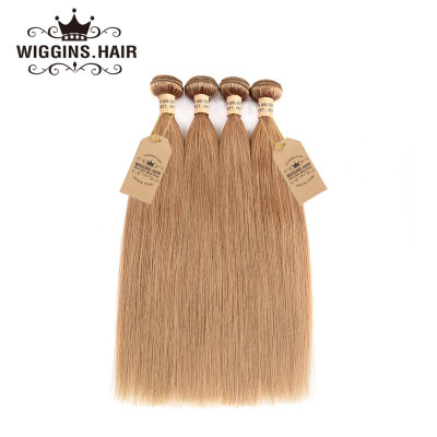 Color #27 Honey Blonde Hair Straight Virgin Hair Pure 27 Hair 4 Bundles