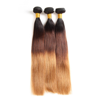Ombre Hair 1B/4/30 Color Straight Hair Bundles Human Hair