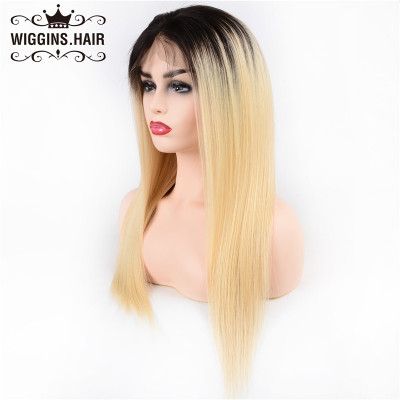 Lace Frontal Wigs 180% Density 1B/613 Color Wigs Brazilian Straight Hair On Sale