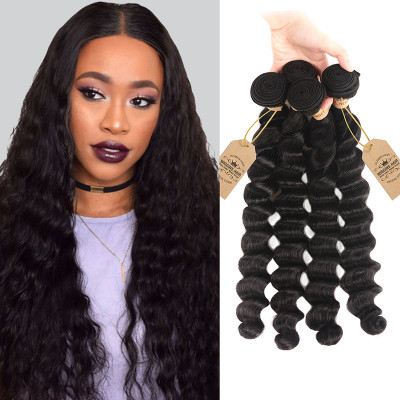 High Quality Malaysian Loose Deep Wave 4 Bundles Wave Hair Weave
