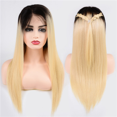 1B/613 Color Full Lace Wigs 130% Density Straight Virgin Hair Full Lace Wig