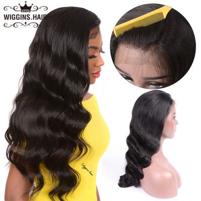 180% Density Body Wave Lace Front Wigs Pre-Plucked Brazilian Human Virgin Hair