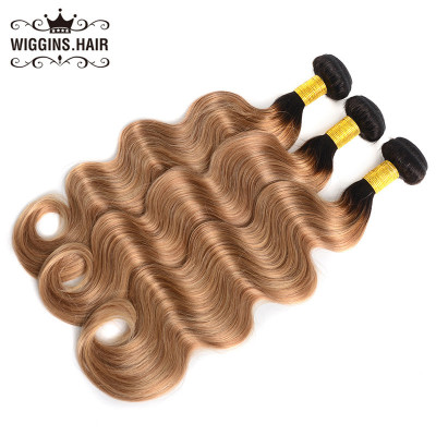 Brazilian Human Virgin Hair 1B/27 Body Wave 3 Bundles Ombre Hair