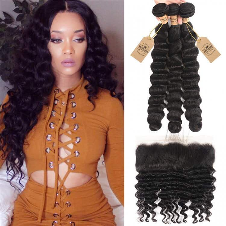 Loose Deep Wave HAIR WITH FRONTAL